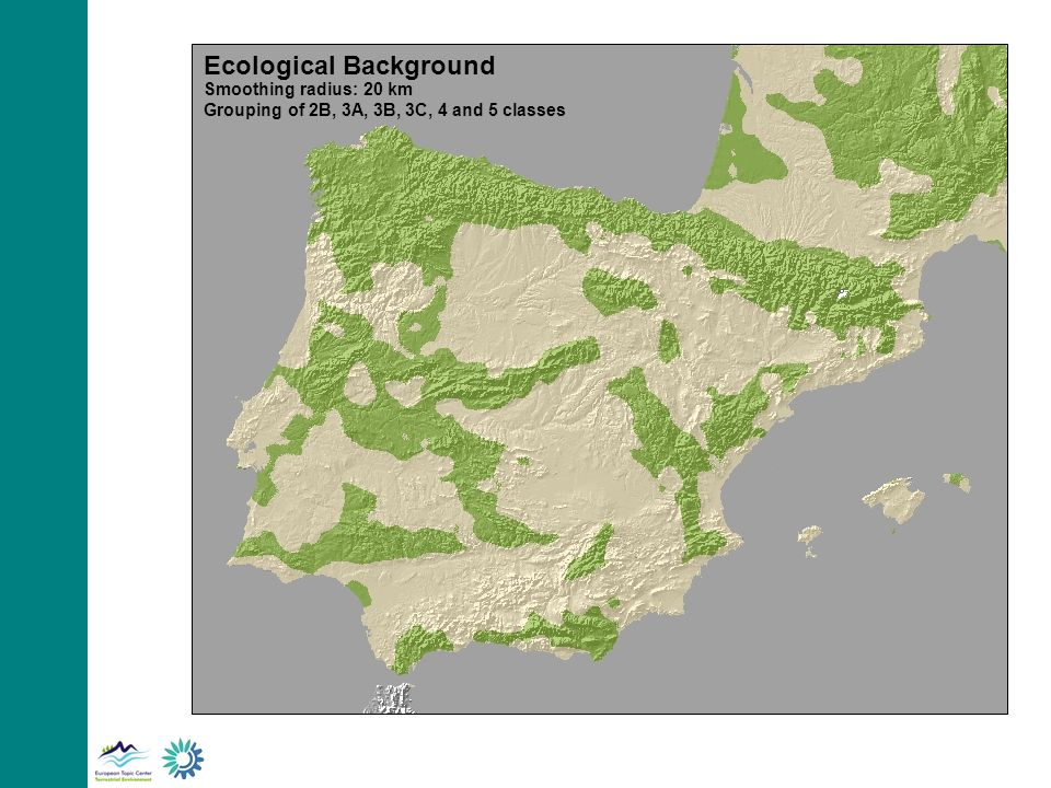 Ecological Background Smoothing radius: 20 km Grouping of 2B, 3A, 3B, 3C, 4 and 5 classes