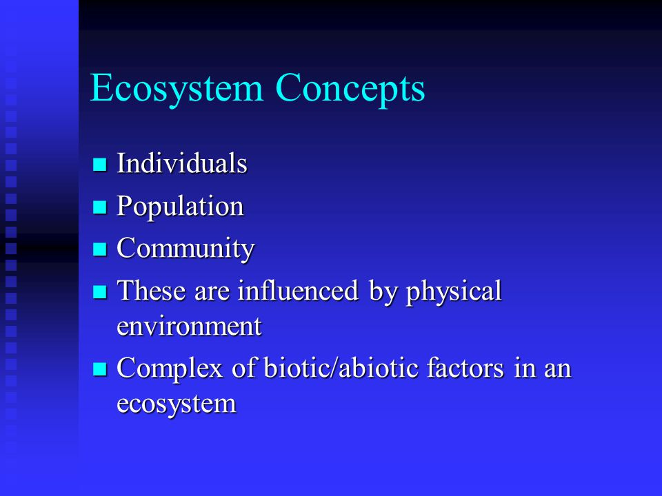Ecological Concepts Community succession Community succession Initial dispersers - wind dispersed seed - dandylions, thistles, milkweed, Initial dispersers - wind dispersed seed - dandylions, thistles, milkweed, Later - shrub seeds, tree seeds - carried by birds.