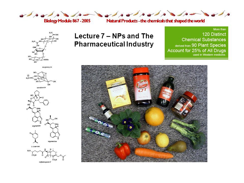 Lecture 7 – NPs and The Pharmaceutical Industry