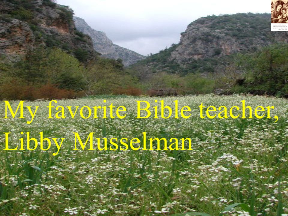 My favorite Bible teacher, Libby Musselman