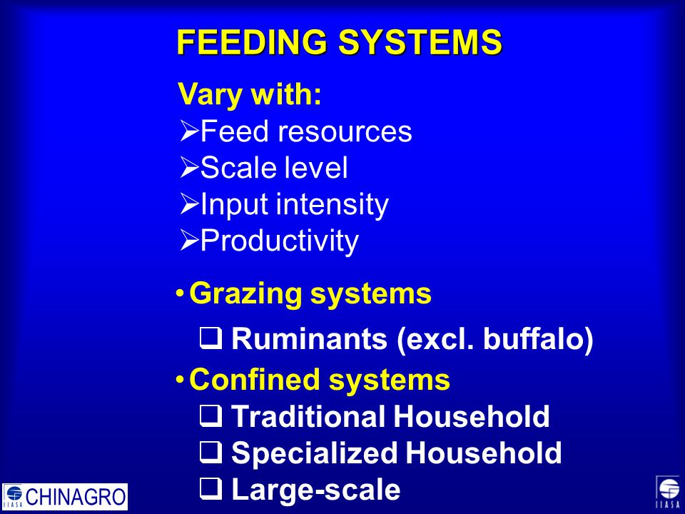 FEEDING SYSTEMS Grazing systems  Ruminants (excl.