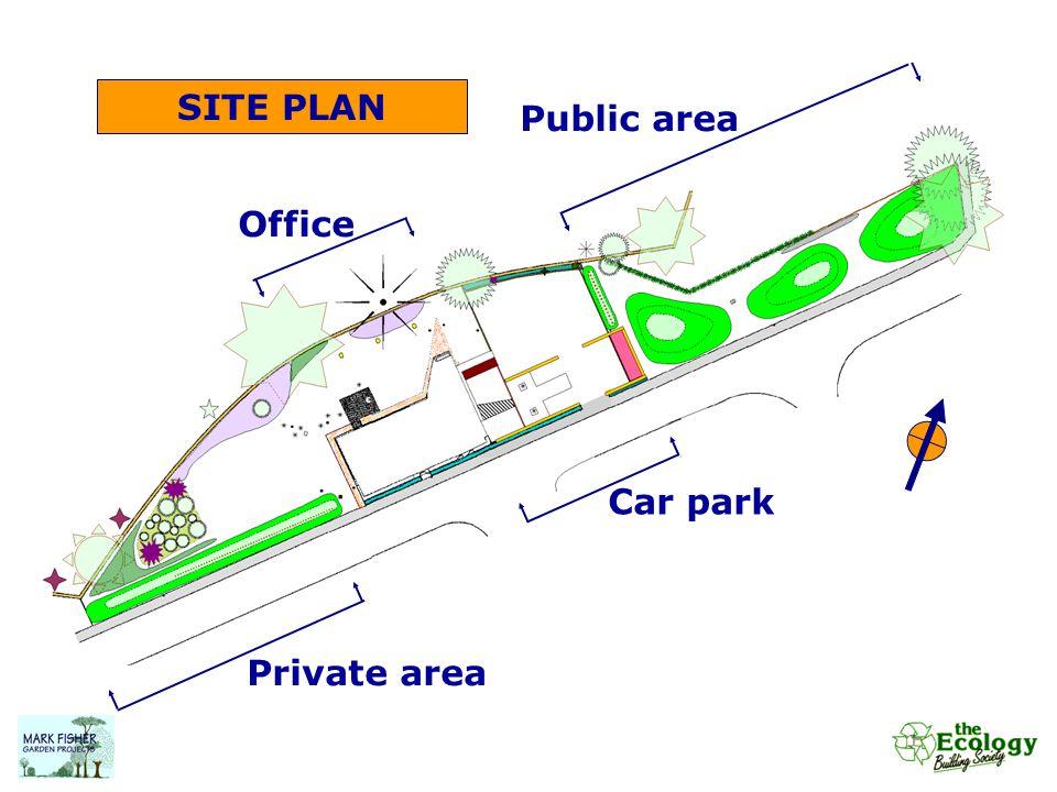 SITE PLAN Private area Office Public area Car park
