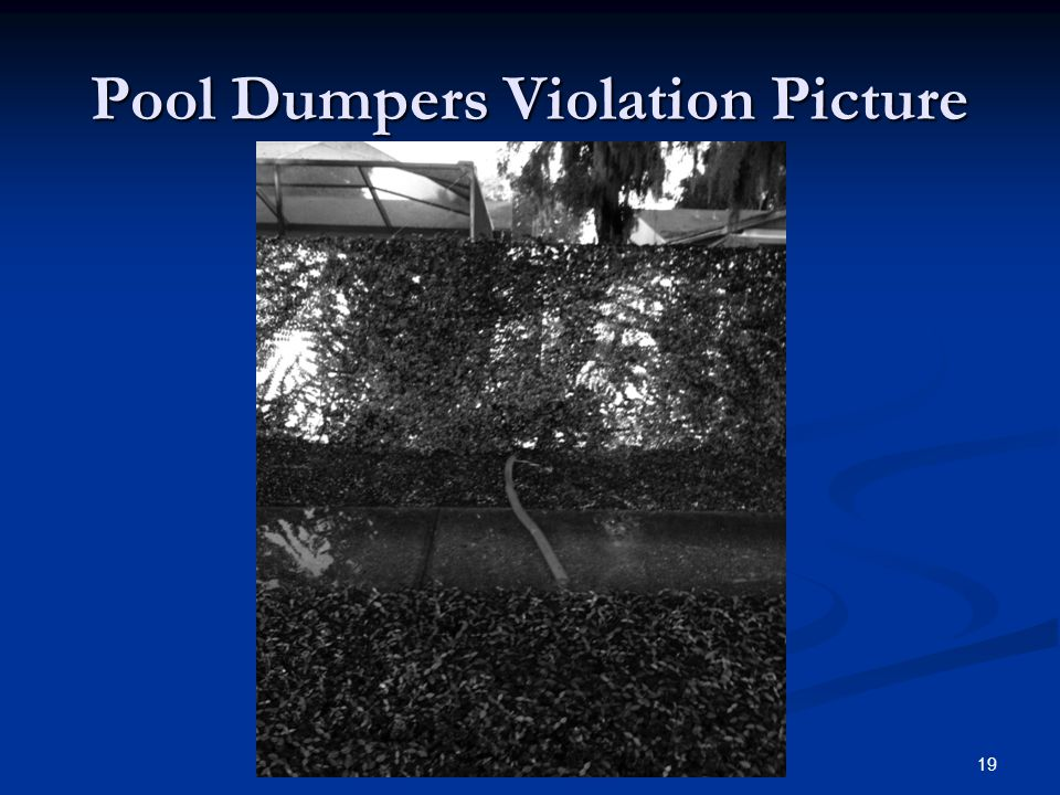 Pool Dumpers Violation Picture 19