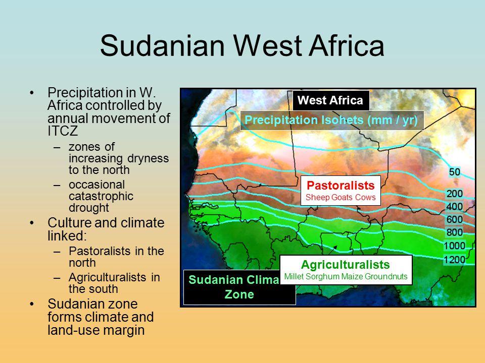 Sudanian West Africa Precipitation in W.