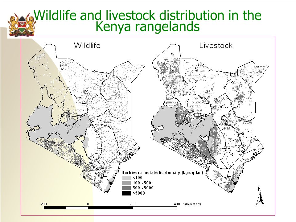 Wildlife and livestock distribution in the Kenya rangelands