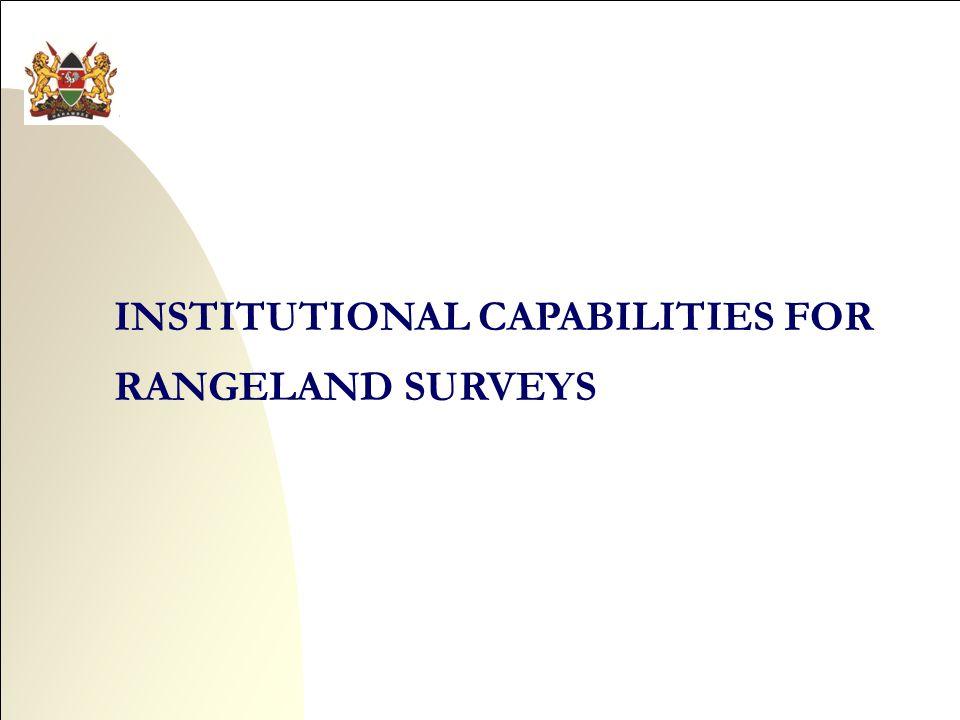 INSTITUTIONAL CAPABILITIES FOR RANGELAND SURVEYS