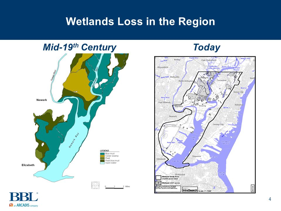 4 Wetlands Loss in the Region Mid-19 th CenturyToday