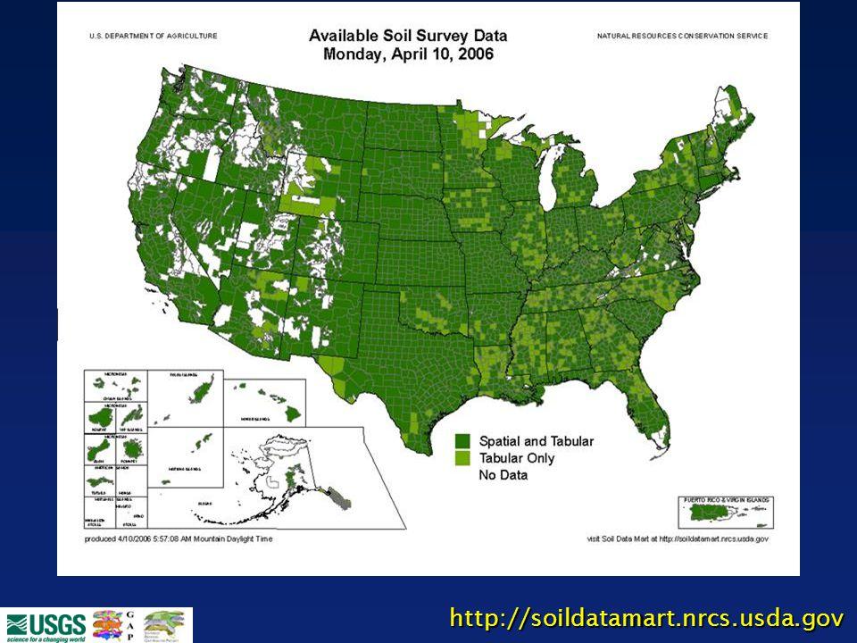 NRCS – SSURGO Database http://soildatamart.nrcs.usda.gov