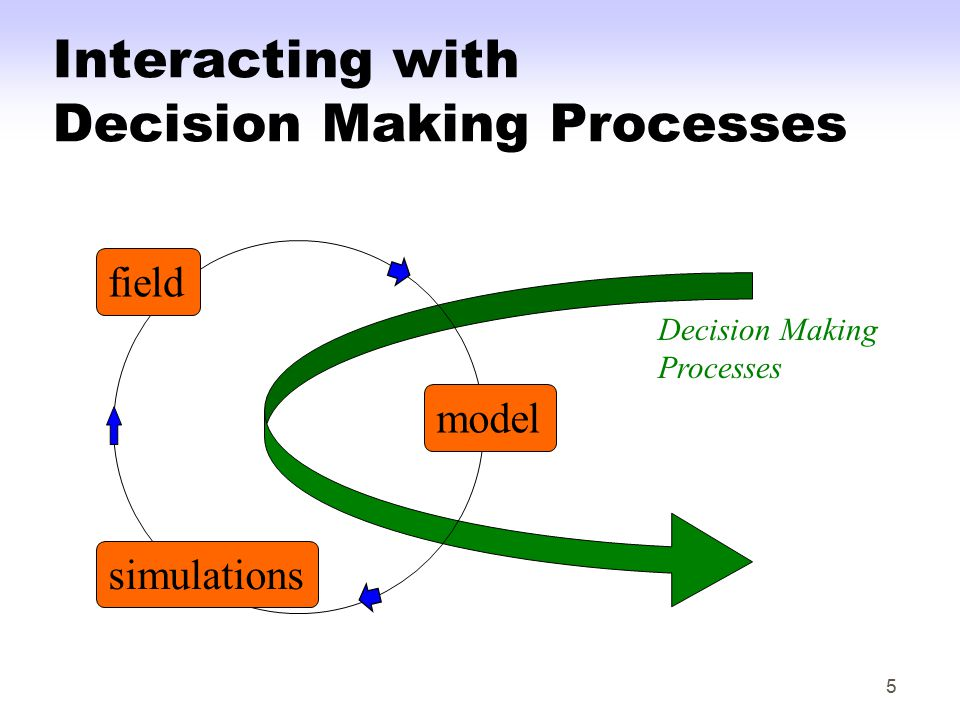 5 Interacting with Decision Making Processes model field simulations Decision Making Processes