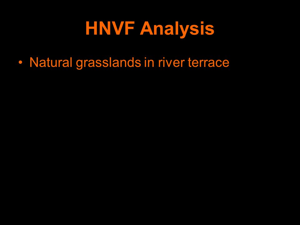 HNVF Analysis Natural grasslands in river terrace