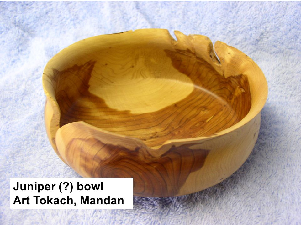 Juniper (?) bowl Art Tokach, Mandan