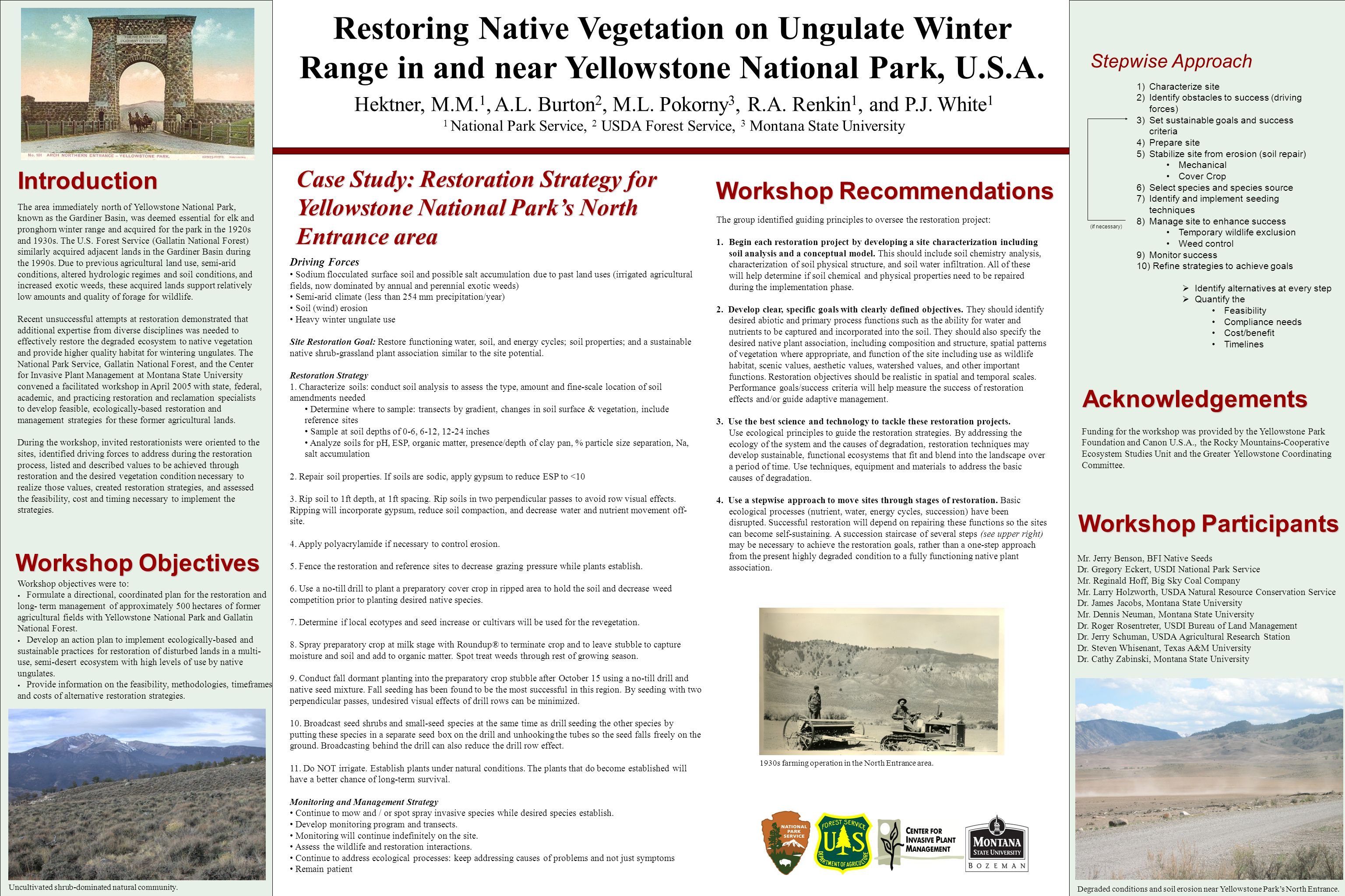Restoring Native Vegetation on Ungulate Winter Range in and near Yellowstone National Park, U.S.A.