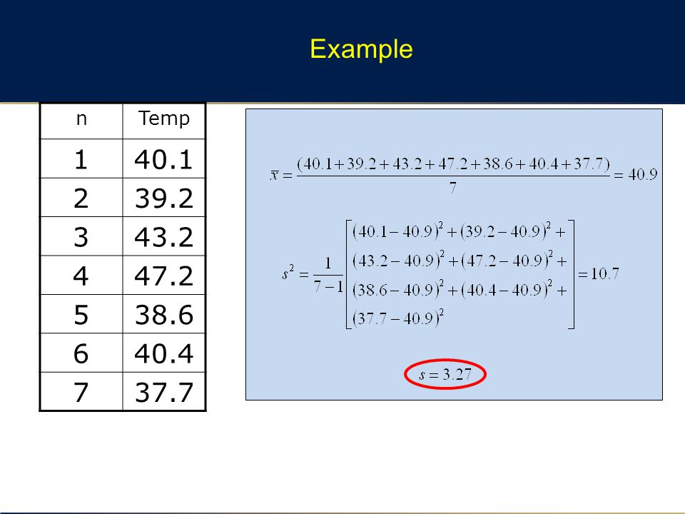 Example nTemp 140.1 239.2 343.2 447.2 538.6 640.4 737.7
