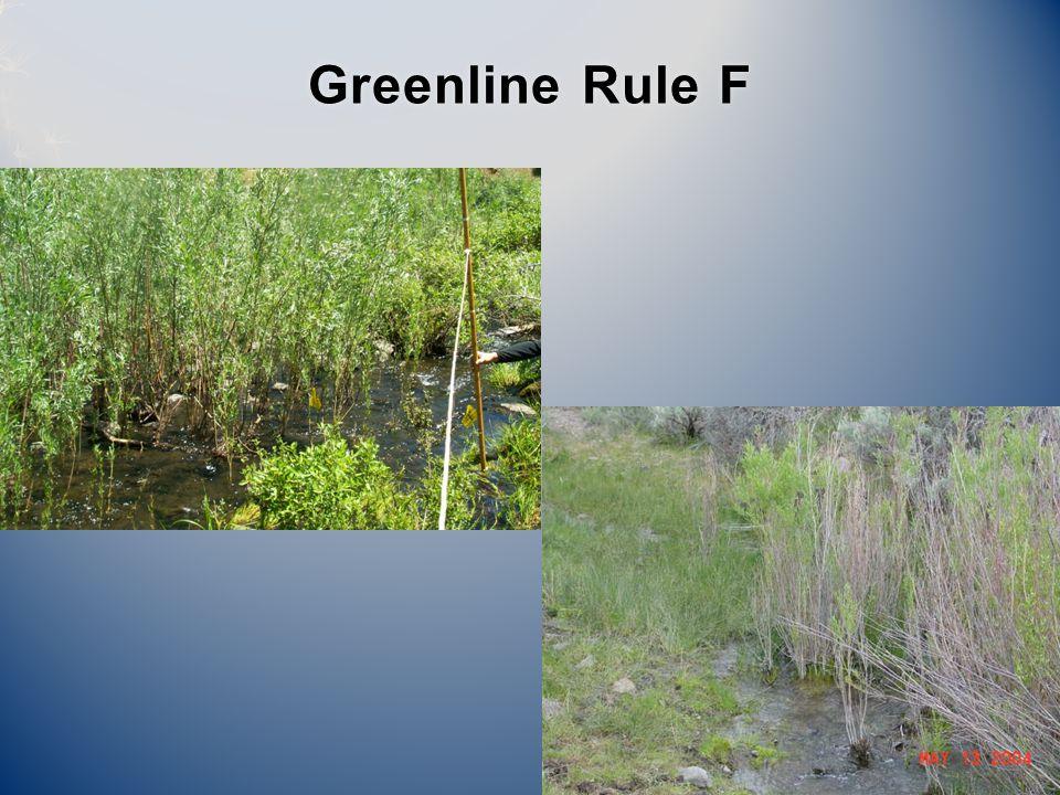 Greenline Rule FGreenline Rule F