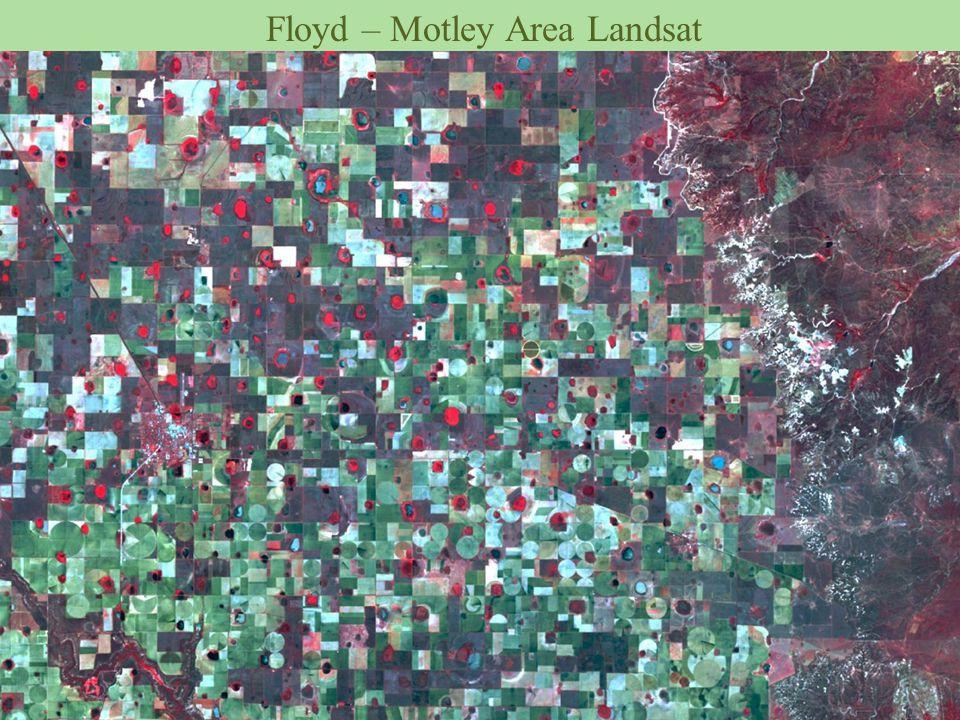 Floyd – Motley Area Landsat