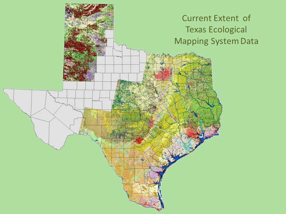 Current Extent of Texas Ecological Mapping System Data