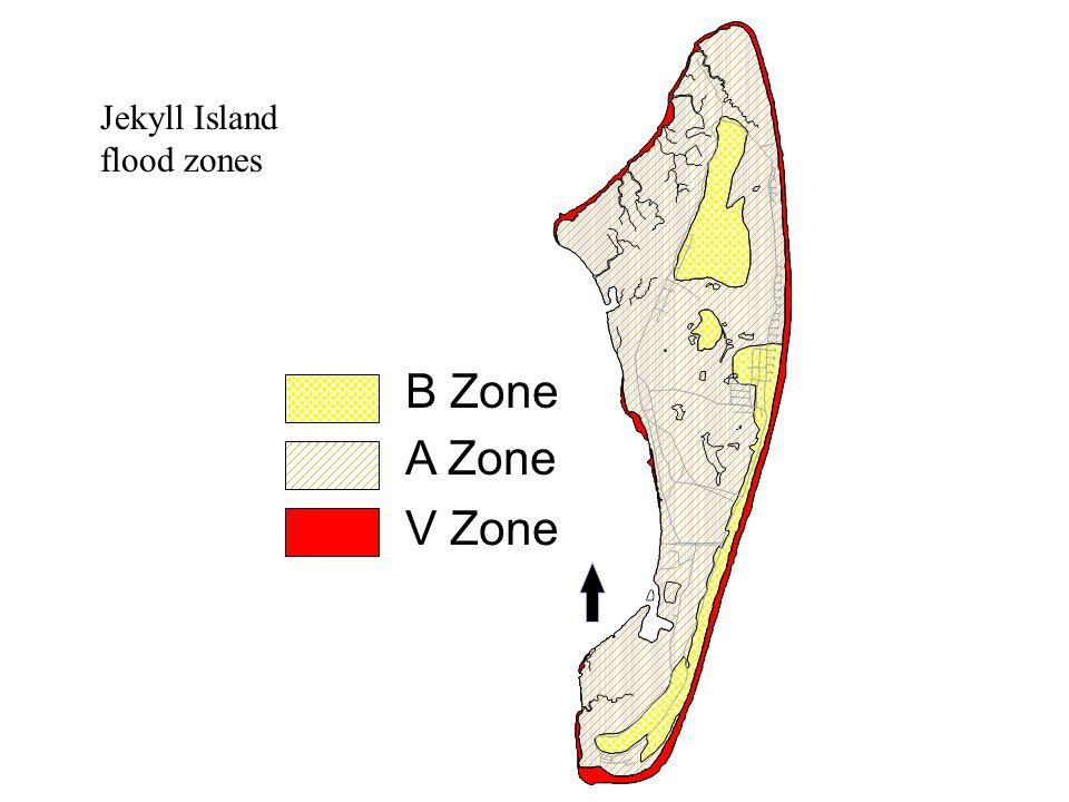 B Zone A Zone V Zone Jekyll Island flood zones