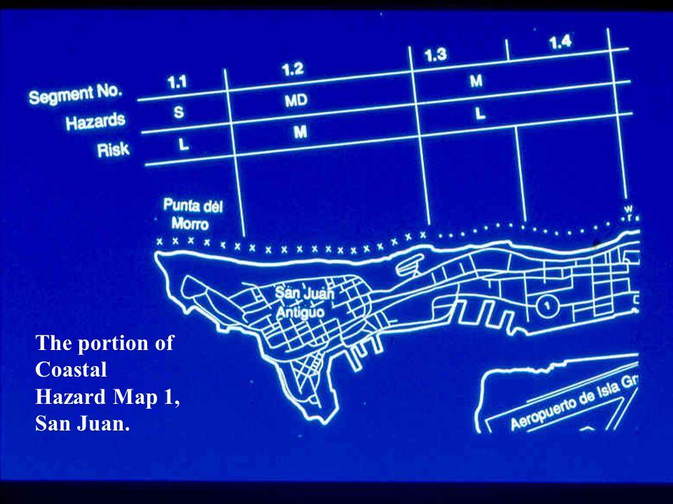 The portion of Coastal Hazard Map 1, San Juan.