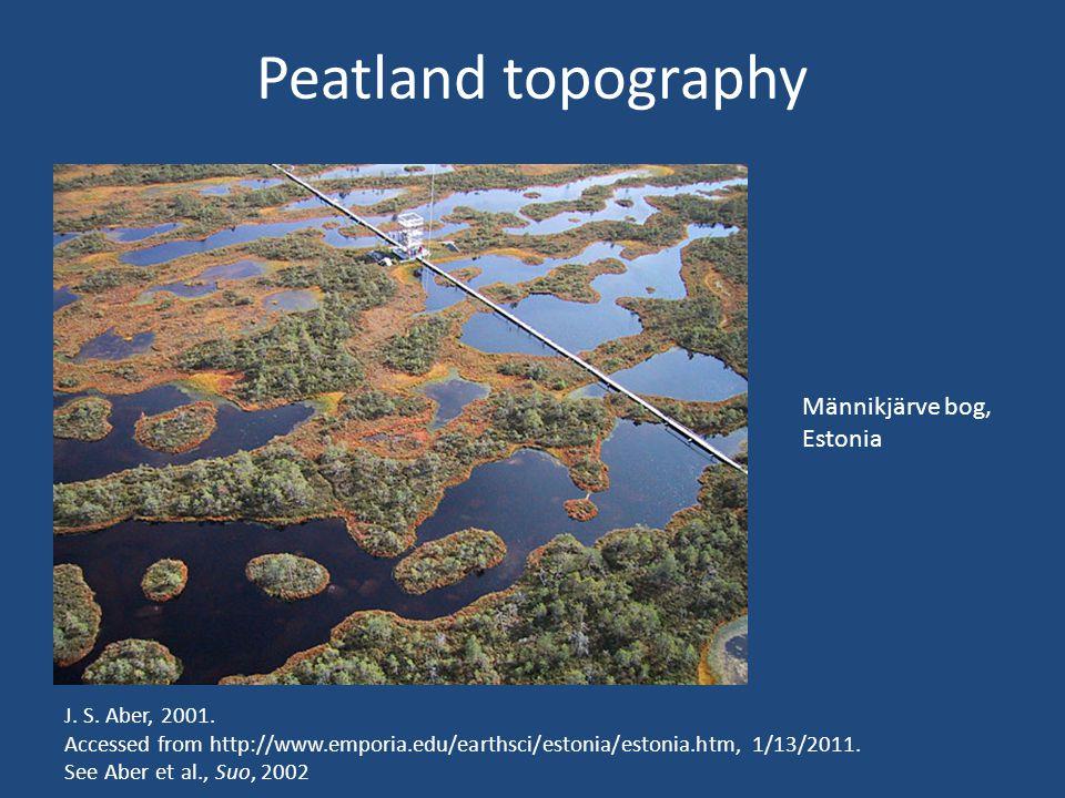 Peatland topography J. S. Aber, 2001.