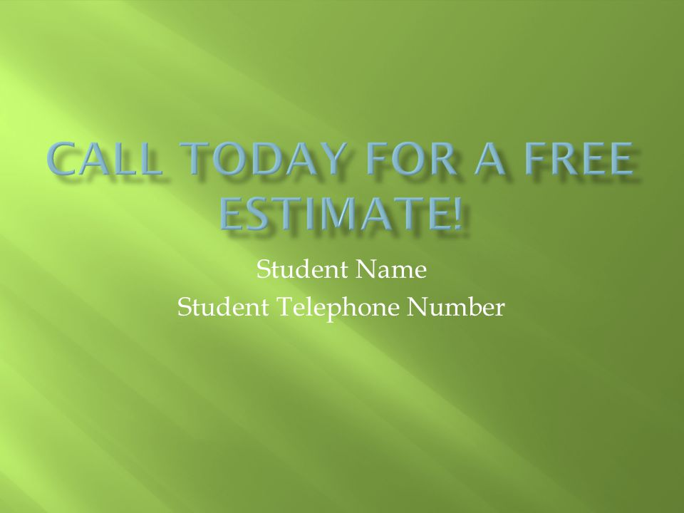 Student Name Student Telephone Number