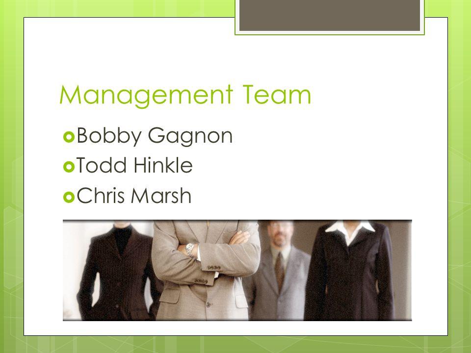 Management Team  Bobby Gagnon  Todd Hinkle  Chris Marsh