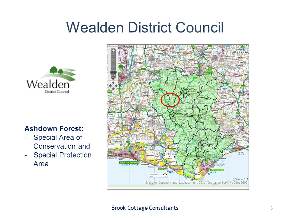 Contributions Zone A (<400m) – no increase in residential development unless exceptional circumstances Zone B (400m – 7km) increase in dwellings: –SANGs 8ha / 1,000 population –Implementation of Forest Access Management Strategy –Programme of monitoring and Research Brook Cottage Consultants 14