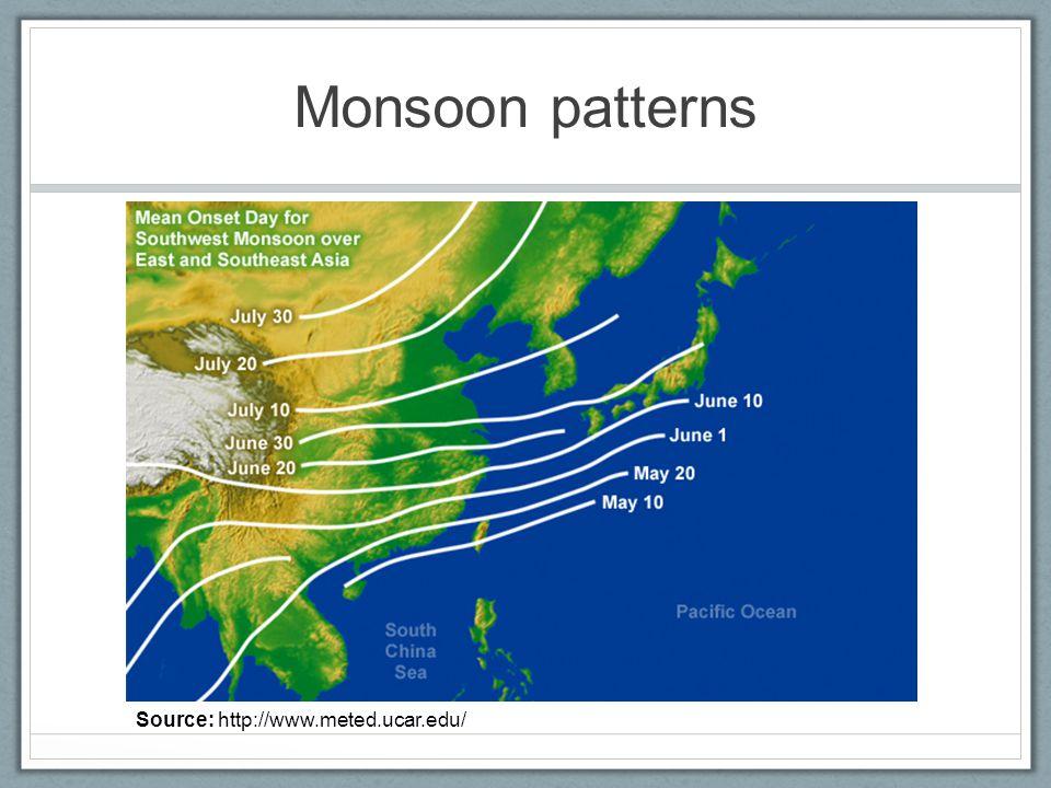 Monsoon patterns Source: http://www.meted.ucar.edu/