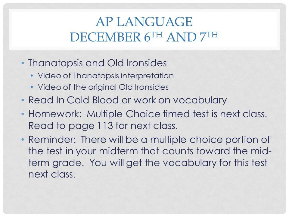 Thanatopsis Essay Ideas..?