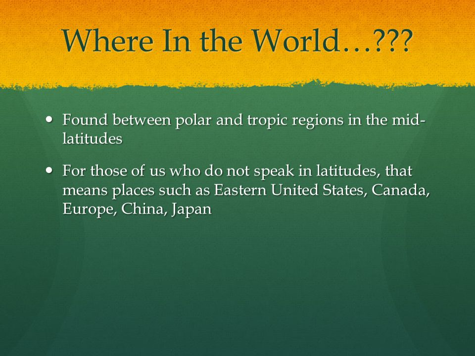 Where In the World…??.