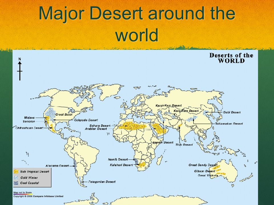 Major Desert around the world