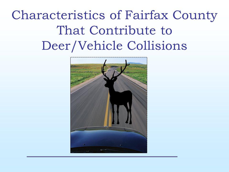 Data Model Project Goal Accident Data VDOT Deer Population VDGIF Land cover USGS Roads FFX GIS Human Population US Census Virginia Boundary FFX GIS