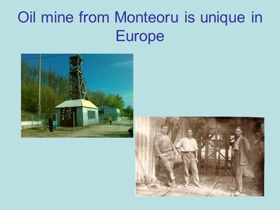 Oil mine from Monteoru is unique in Europe