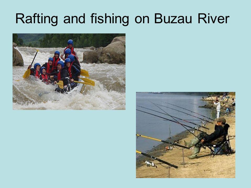 Rafting and fishing on Buzau River