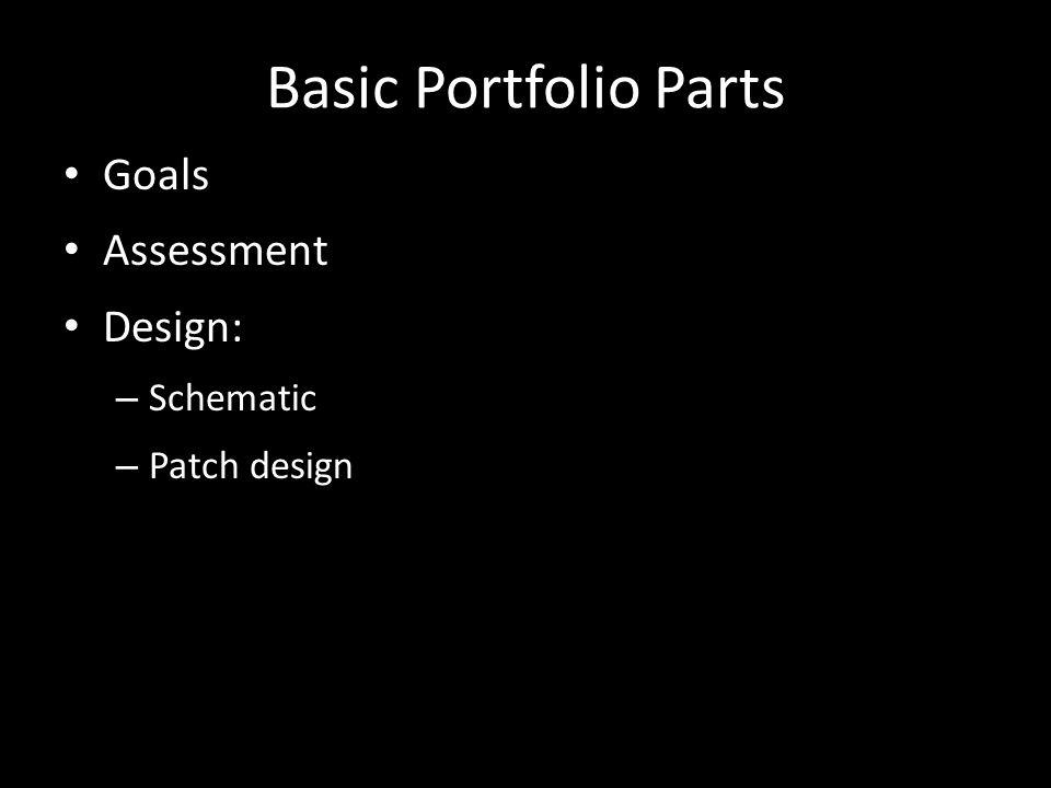Basic Portfolio Parts Goals Assessment Design: – Schematic – Patch design
