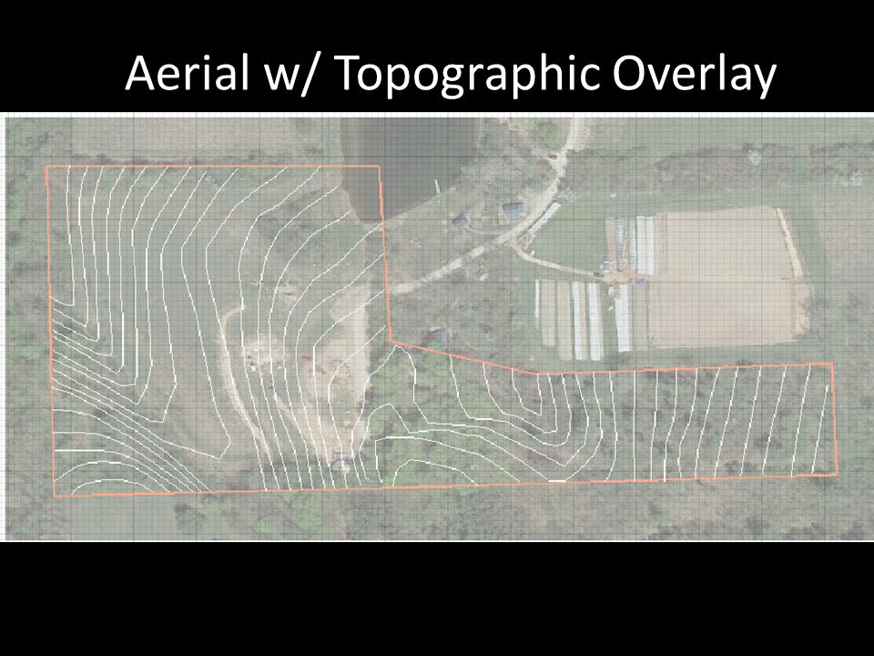 Aerial w/ Topographic Overlay