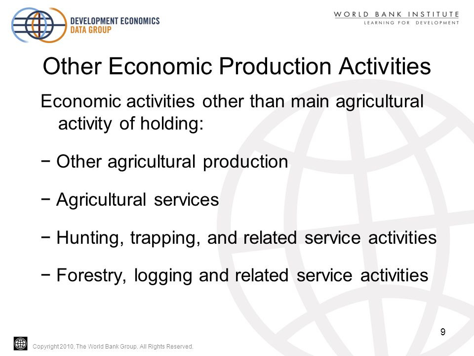Copyright 2010, The World Bank Group.All Rights Reserved.