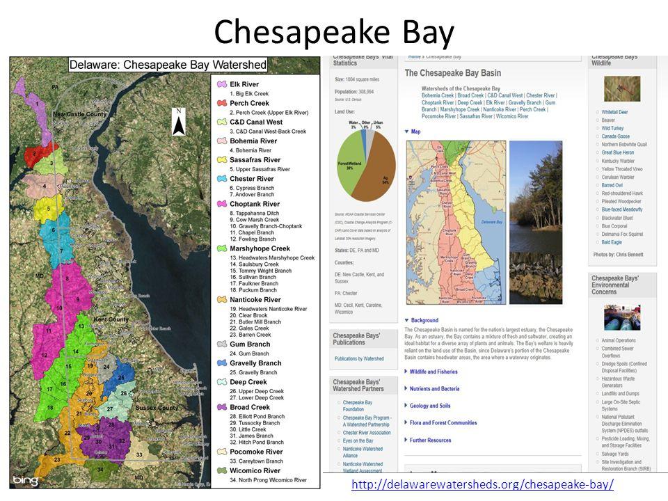 Chesapeake Bay http://delawarewatersheds.org/chesapeake-bay/