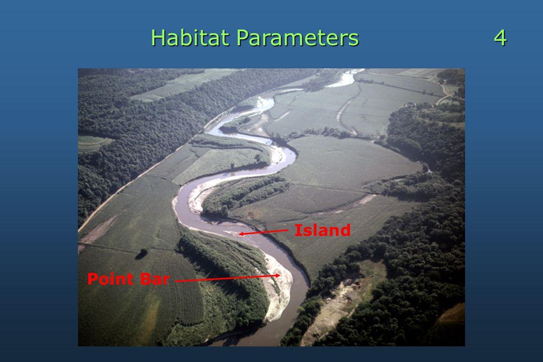Habitat Parameters 4 Point Bar Island