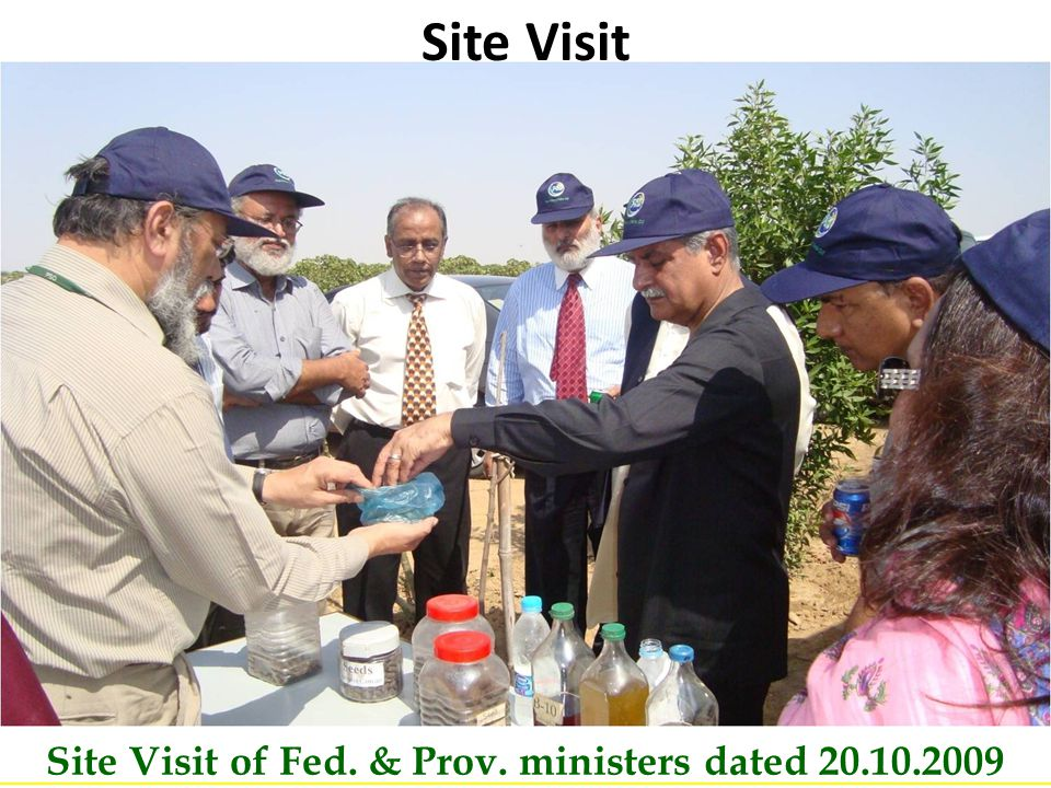 Pakistan State Oil B Site Visit of Fed. & Prov. ministers dated 20.10.2009 Site Visit