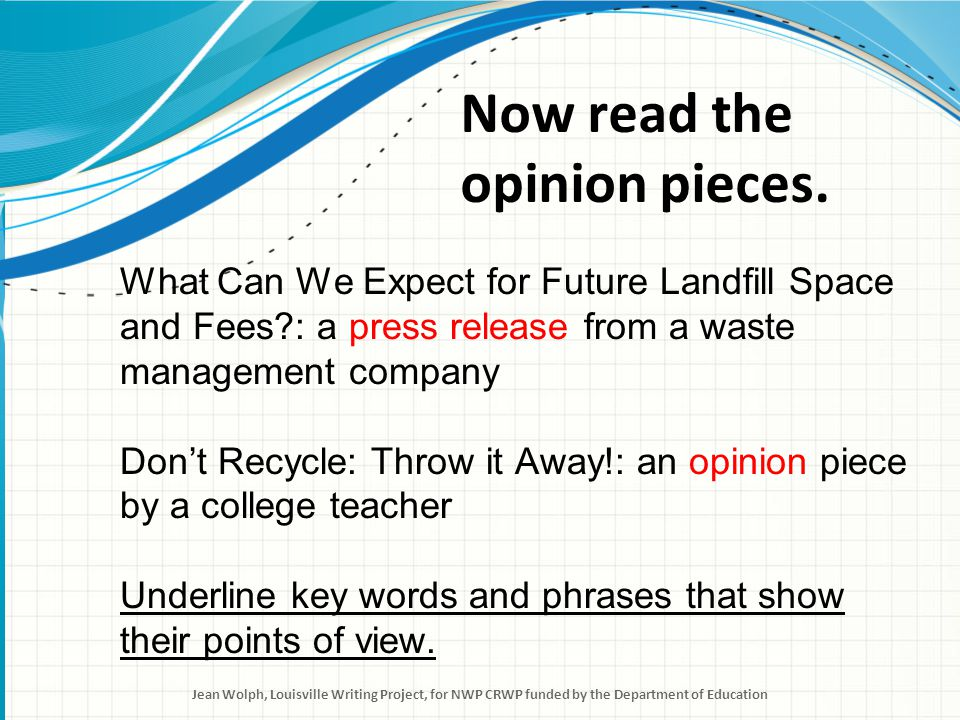 What Can We Expect for Future Landfill Space.