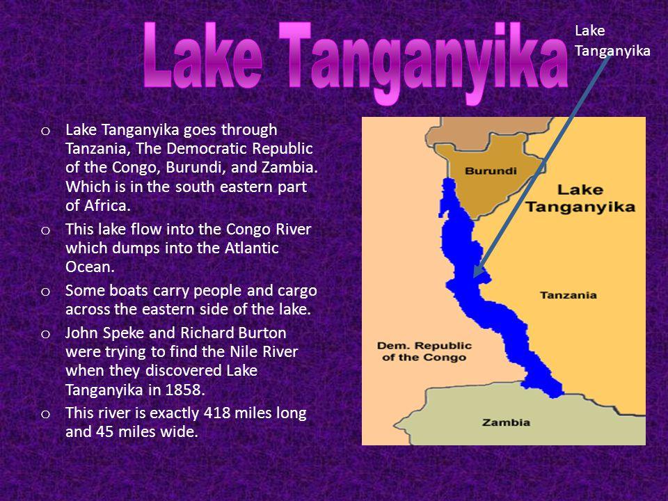 Lake Victoria goes through Tanzania, Uganda, and Kenya.