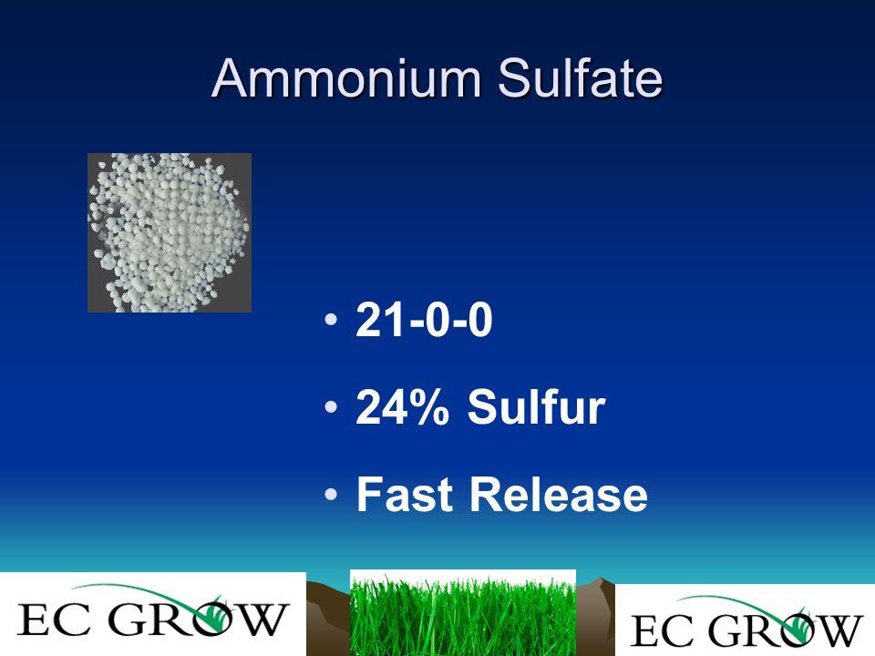 Ammonium Sulfate 21-0-0 24% Sulfur Fast Release