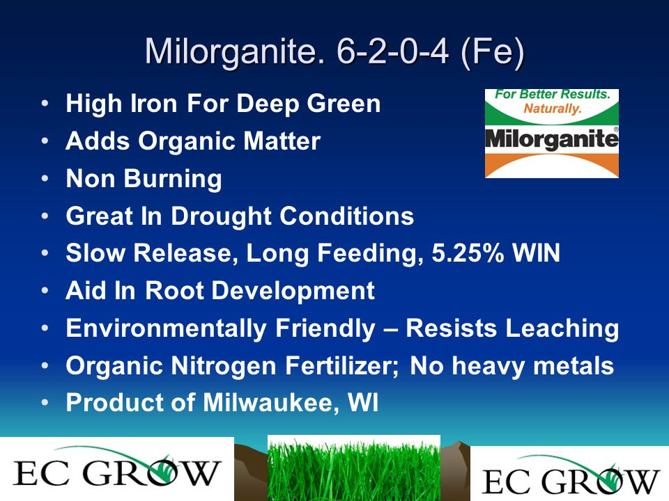 Milorganite. 6-2-0-4 (Fe) High Iron For Deep Green Adds Organic Matter Non Burning Great In Drought Conditions Slow Release, Long Feeding, 5.25% WIN A