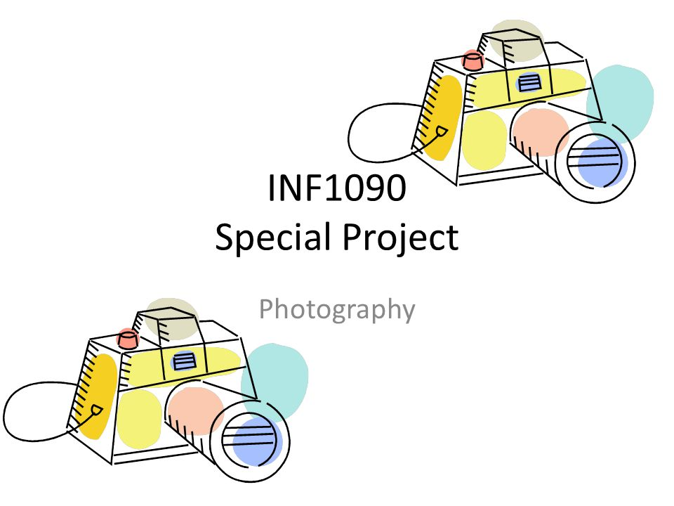 INF1090 Special Project Photography
