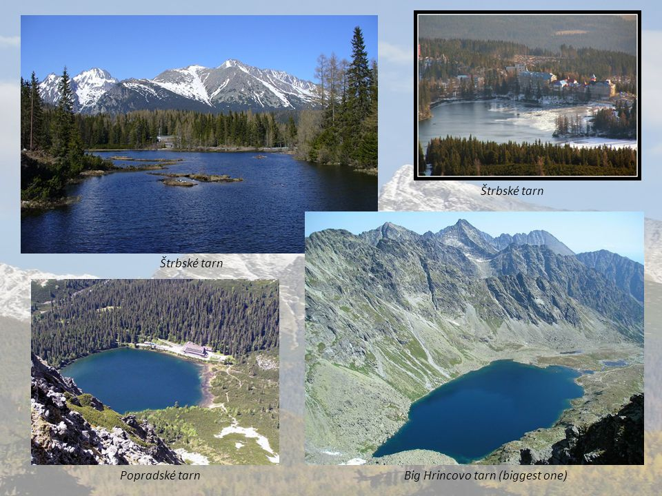 1.7 Waterfalls The best known are: A huge waterfall in the mouth of Cold Creek and jump waterfall in Mlynska Valley.