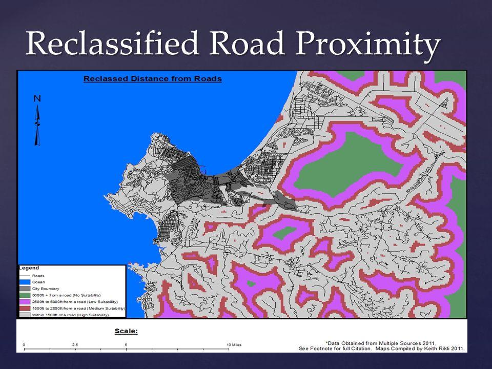 Reclassified Road Proximity