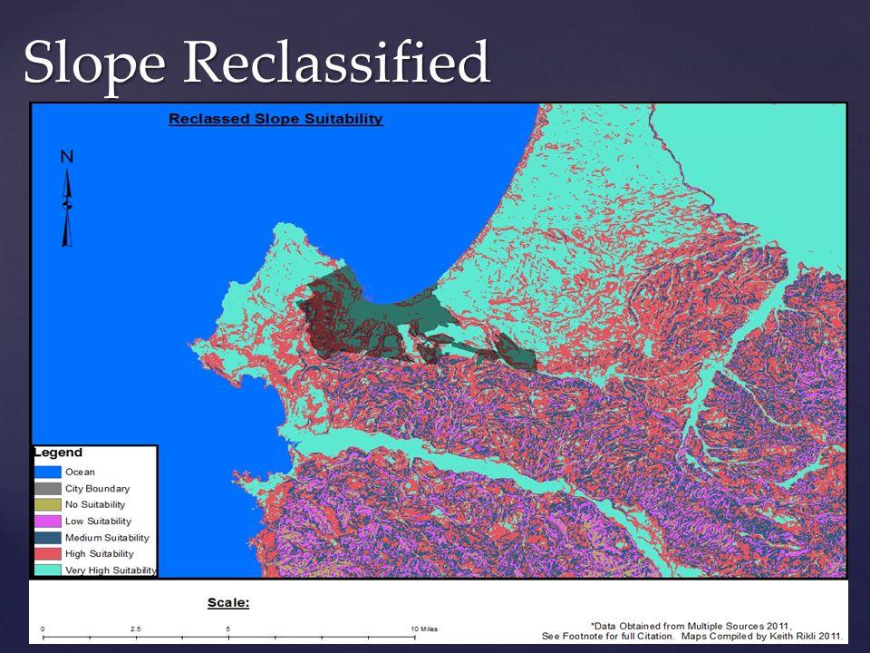 Slope Reclassified