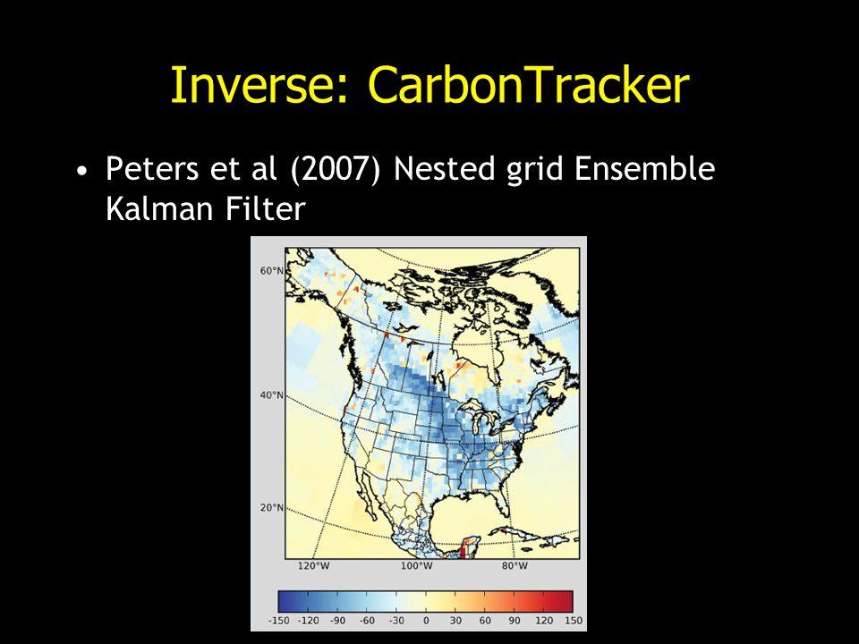 Inverse: CarbonTracker Peters et al (2007) Nested grid Ensemble Kalman Filter