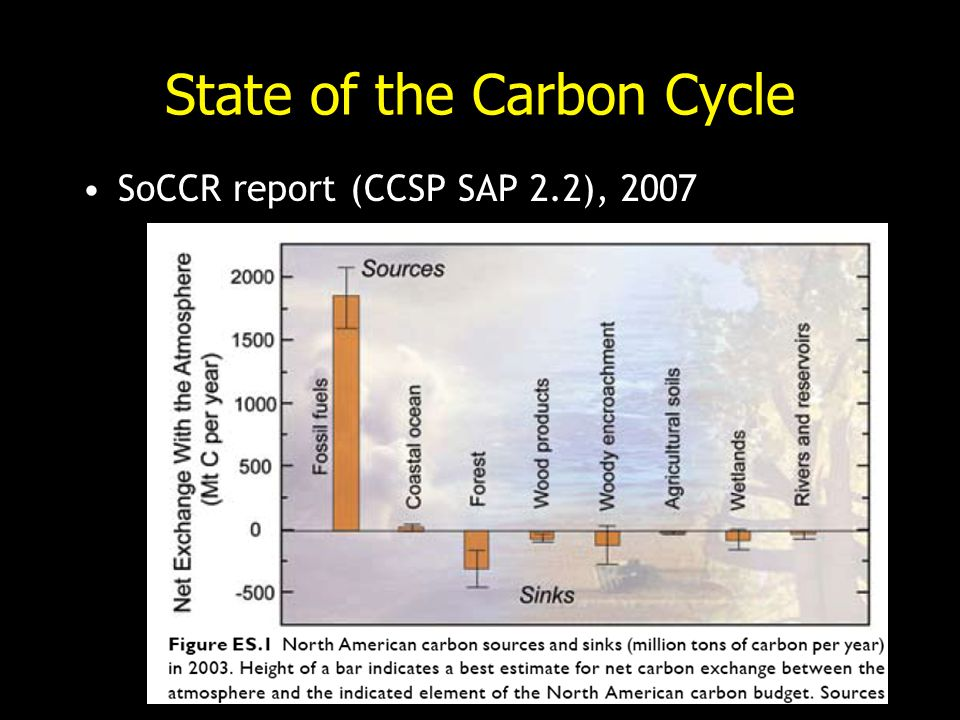 State of the Carbon Cycle SoCCR report (CCSP SAP 2.2), 2007
