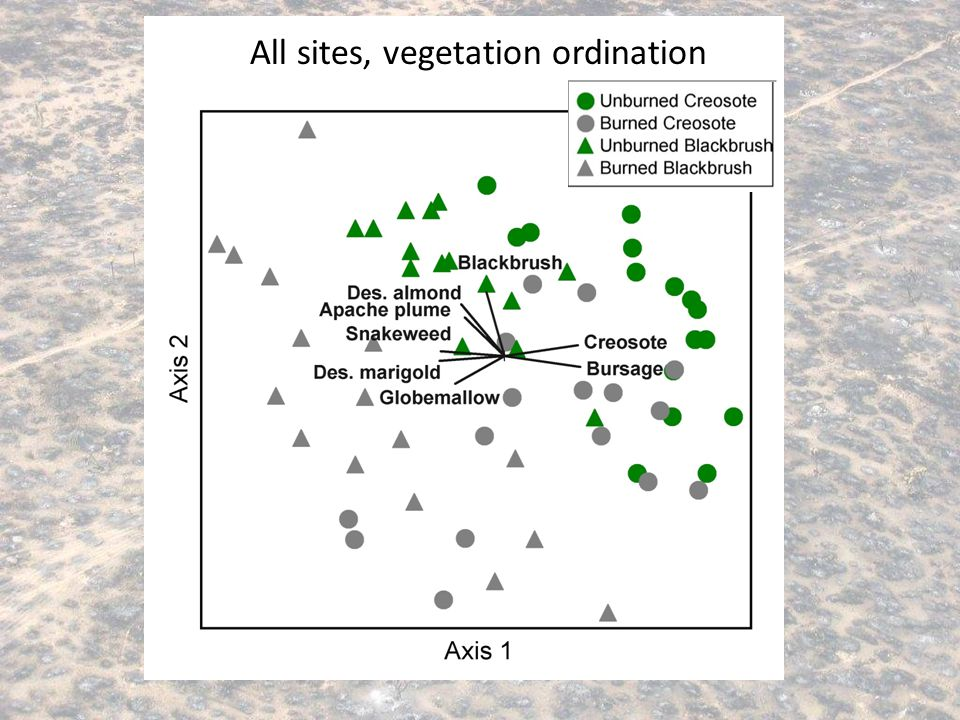All sites, vegetation ordination